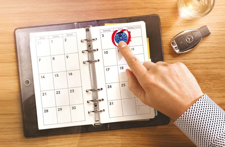 Haupt- und Abgasuntersuchung Kalender